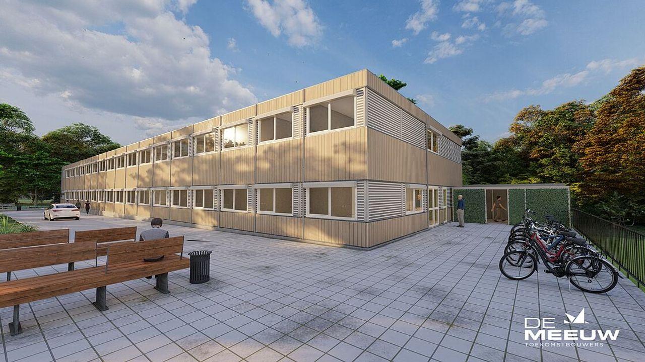 Tijdelijke school aan het Kohnstammplein in Vollenhove